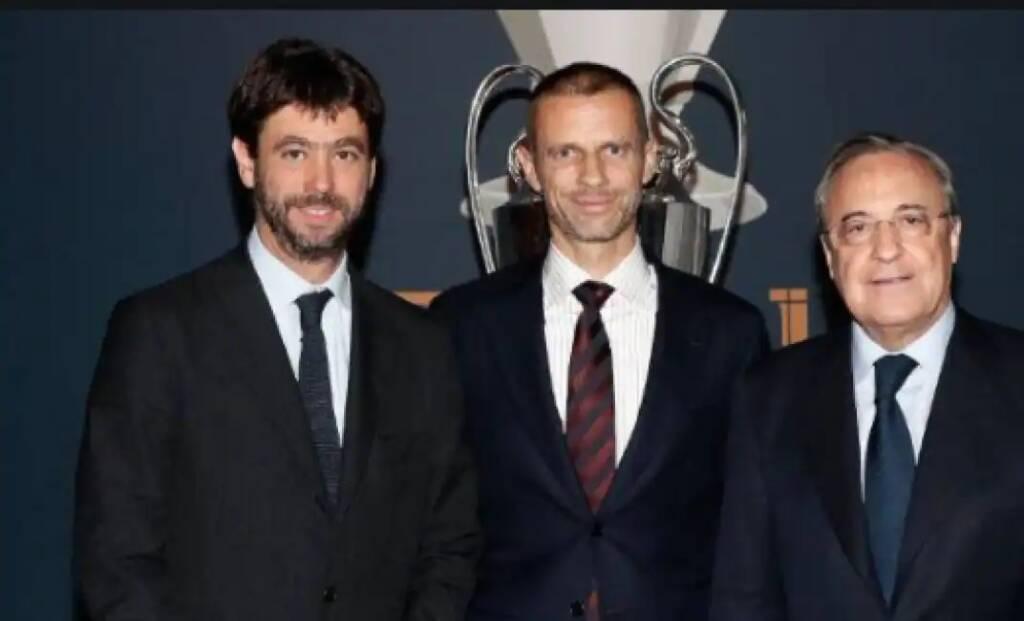 Agnelli, Ceferin e Perez quando ancora tutto andava bene