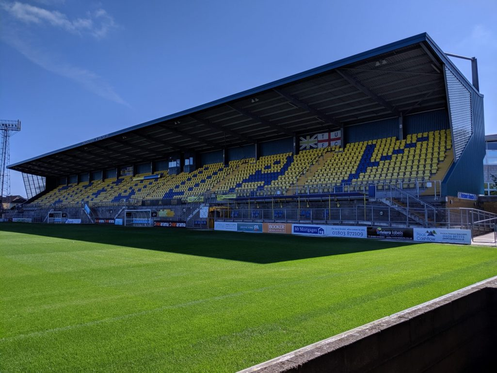 Plainmoor, lo stadio del Torquay United